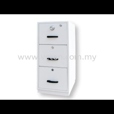 3 DRAWERS FIRE RESISTANT CABINET - INDIVIDUAL LOCKING