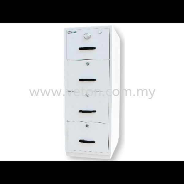 4 DRAWERS FIRE RESISTANT CABINET - INDIVIDUAL LOCKING SECURITY SAFE & FIRE RESISTANT CABINET OFFICE FURNITURE Selangor, Klang, Malaysia, Kuala Lumpur (KL) Supplier, Service, Supply, Supplies | Veton Office System Sdn Bhd