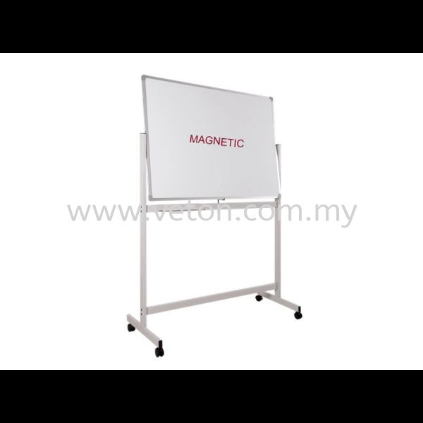 DOUBLE SIDE MAGNETIC WHITE BOARD WITH STAND WRITING BOARD & NOTICE BOARD OFFICE EQUIPMENT OFFICE FURNITURE Selangor, Klang, Malaysia, Kuala Lumpur (KL) Supplier, Service, Supply, Supplies | Veton Office System Sdn Bhd