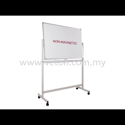 DOUBLE SIDE NON-MAGNETIC WHITE BOARD WITH STAND