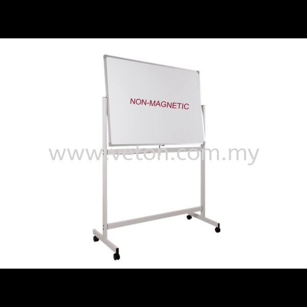 DOUBLE SIDE NON-MAGNETIC WHITE BOARD WITH STAND WRITING BOARD & NOTICE BOARD OFFICE EQUIPMENT OFFICE FURNITURE Selangor, Klang, Malaysia, Kuala Lumpur (KL) Supplier, Service, Supply, Supplies   Veton Office System Sdn Bhd