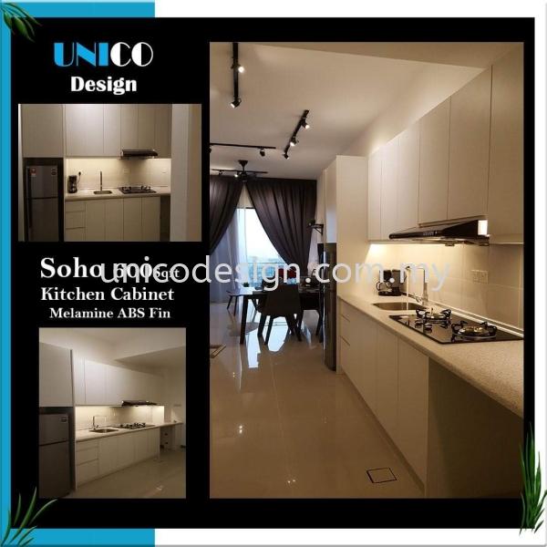 SOHO KITCHEN CABINET MELAMINE ABS FIN 600SQFT SOHO DESIGN PROJECTS Selangor, Seri Kembangan, Malaysia, Kuala Lumpur (KL) Supplier, Suppliers, Supply, Supplies | Unico Design Sdn Bhd