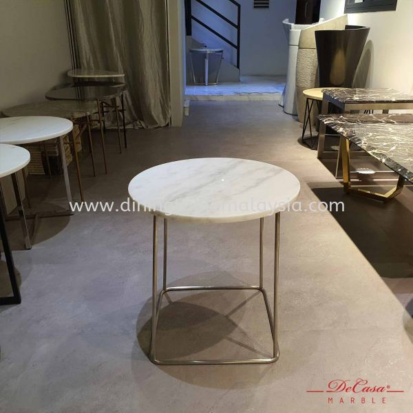 Round Marble Side Table | Sivec White | (Cash & Carry) RM599 Marble Coffee Table Promotion / Clearance Item  Malaysia, Selangor, Kuala Lumpur (KL), Petaling Jaya (PJ) Supplier, Suppliers, Supply, Supplies | DeCasa Marble Sdn Bhd