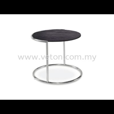 ROUND TEMPERED GLASS COFFEE TABLE
