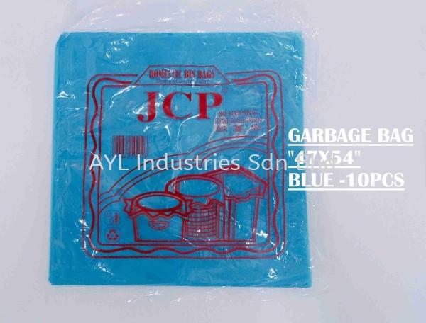 JCP GARBAGE BAG (47''x 54'') BLUE 10 PCS GARBAGE BAG Malaysia, Selangor, Kuala Lumpur (KL), Johor Bahru (JB), Pahang Supplier, Suppliers, Supply, Supplies | AYL Industries Sdn Bhd