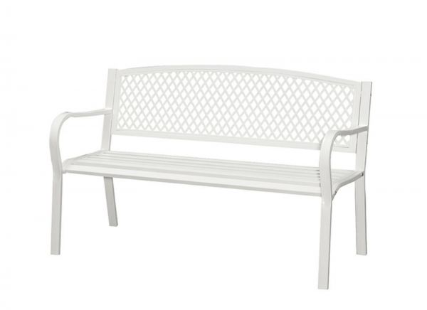 Outdoor Steel Bench - Sandy White Outdoor Chairs And Tables OUTDOOR Penang, Malaysia, Simpang Ampat Supplier, Suppliers, Supply, Supplies | Sweet Home BM Enterprise