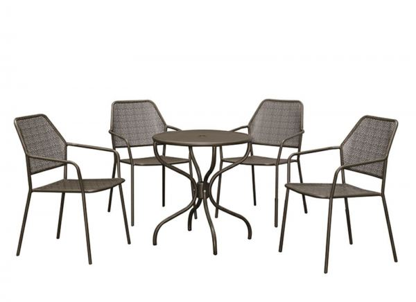 Outdoor Steel Table + Steel Chair Set (1+4) - Cool Grey Outdoor Table Sets OUTDOOR Penang, Malaysia, Simpang Ampat Supplier, Suppliers, Supply, Supplies | Sweet Home BM Enterprise
