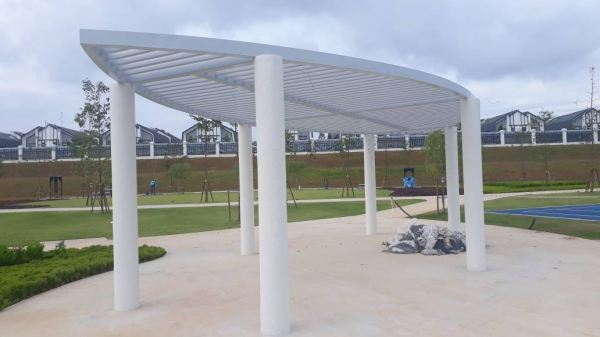 Garden pavilion-mild steel welding with 2K painting Welding Iron Work, Laser Cutting Pattern, Other Johor Bahru JB Malaysia LED Displayboard, Signboard Design | VETER SIGN SDN BHD