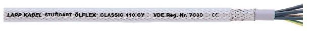 LAPP Screened PVC control cable with transparent outer sheath ÖLFLEX® CLASSIC 110 CY Lapp Kabel COPPER CABLE SOLUTIONS Malaysia, Selangor, Kuala Lumpur (KL), Seri Kembangan Supplier, Suppliers, Supply, Supplies | OH925
