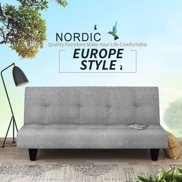 OLLY 2 in 1 Foldable Sofa Bed 2 Seater, 3 Seater or 4 Seater / Durable Canvas Sofa (Grey) Sofa & Chair Home & Living Malaysia, Selangor, Kuala Lumpur (KL) Supplier, Suppliers, Supply, Supplies | Like Bug Sdn Bhd