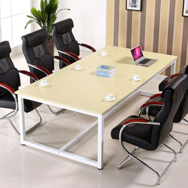 White Frame Steel Large Simple Office Meeting Table  Office Table Office Furniture Malaysia, Selangor, Kuala Lumpur (KL) Supplier, Suppliers, Supply, Supplies | Like Bug Sdn Bhd