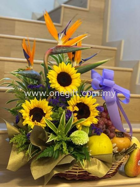 FF35 Flower and Fruit Basket Flower and Gift Malaysia, Selangor, Kuala Lumpur (KL), Shah Alam Supplier, Suppliers, Supply, Supplies | The One Gift Gallery Sdn Bhd