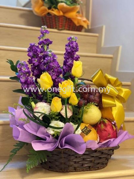 FF33 Flower and Fruit Basket Flower and Gift Malaysia, Selangor, Kuala Lumpur (KL), Shah Alam Supplier, Suppliers, Supply, Supplies | The One Gift Gallery Sdn Bhd
