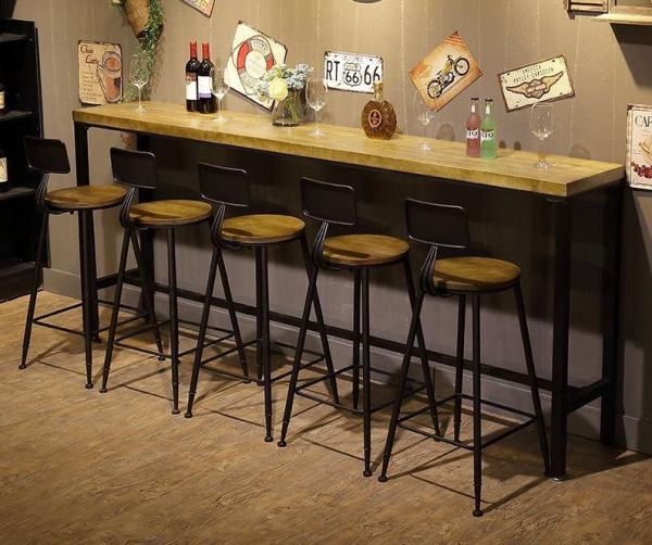 Dante 5.0cm Thickness Solid Rubber Wood Bar Table Bar Table & Stool Kitchen & Dining Malaysia, Selangor, Kuala Lumpur (KL) Supplier, Suppliers, Supply, Supplies | Like Bug Sdn Bhd