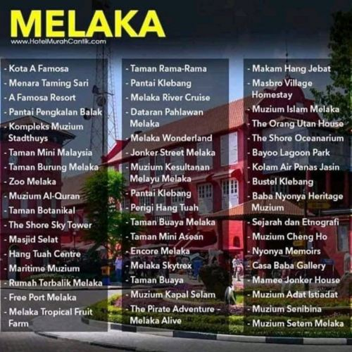 Attractions in Melaka