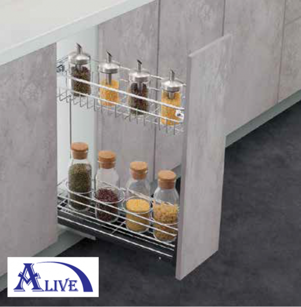 MULTI FUNCTION TWO LAYERS PULL OUT BASKET (SUS304) (TYPE 1) Base Cabinets Platinum SUS304 Kitchen Cabinet Basket & Hardware Selangor, Malaysia, Kuala Lumpur (KL), Sungai Buloh Supplier, Suppliers, Supply, Supplies | Alive Hardware Trading (M) Sdn Bhd