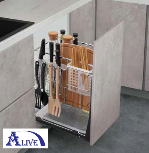 MULTI FUNCTION THREE LAYERS PULL OUT BASKET (SUS304) (TYPE 1) Base Cabinets Platinum SUS304 Kitchen Cabinet Basket & Hardware Selangor, Malaysia, Kuala Lumpur (KL), Sungai Buloh Supplier, Suppliers, Supply, Supplies   Alive Hardware Trading (M) Sdn Bhd