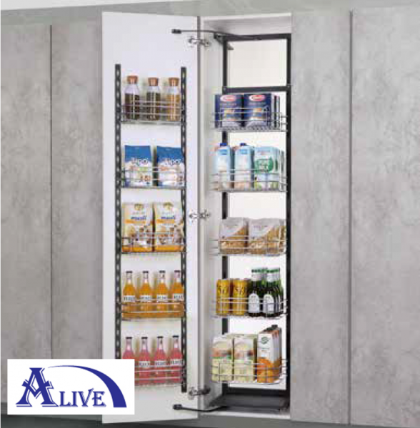 SIDE LARGE TALL UNIT WITH SOFT CLOSING SLIDE (SUS304) Tall Cabinets Platinum SUS304 Kitchen Cabinet Basket & Hardware Selangor, Malaysia, Kuala Lumpur (KL), Sungai Buloh Supplier, Suppliers, Supply, Supplies   Alive Hardware Trading (M) Sdn Bhd