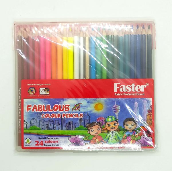 Faster Fabulous Colour Pencils 24 Colors Color Pencil Stationery Johor Bahru (JB), Malaysia Supplier, Suppliers, Supply, Supplies | Edustream Sdn Bhd