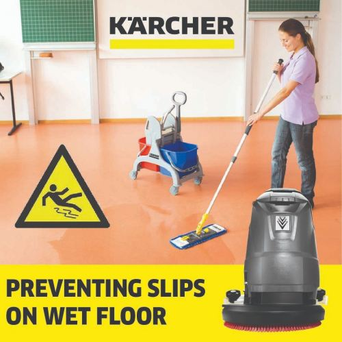 Preventing Slips on Wet Floor