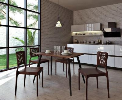Reema Dining Set with 3V HIVE Dining Chairs