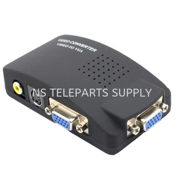 RCA + S.VIDEO TO VGA  Converter with Adapter Converter Seremban, Malaysia, Negeri Sembilan Supplier, Suppliers, Supply, Supplies | NS Teleparts Supply