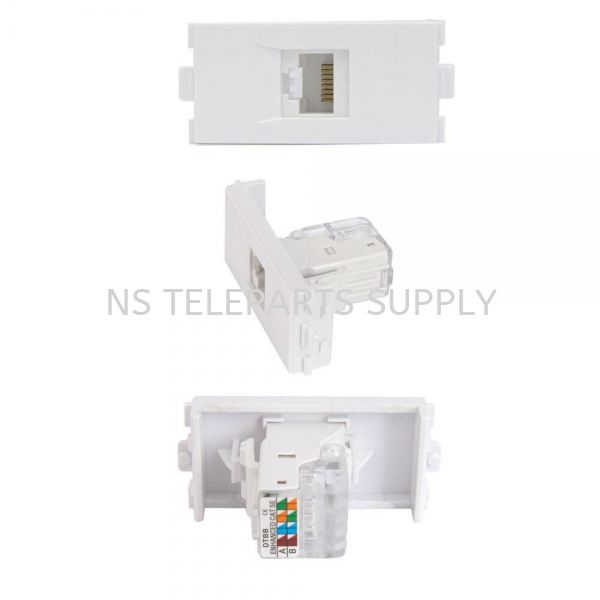 RJ 45 CAT 5E WITH COVER  Face Plate Converter Seremban, Malaysia, Negeri Sembilan Supplier, Suppliers, Supply, Supplies | NS Teleparts Supply