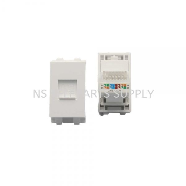 RJ45 CAT 6 WITH COVER Face Plate Converter Seremban, Malaysia, Negeri Sembilan Supplier, Suppliers, Supply, Supplies | NS Teleparts Supply