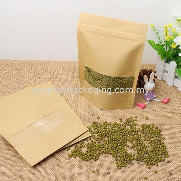Craft Paper Bags (Standpouch)  Goodies Bags Carry Bags / Packing Bags Selangor, Malaysia, Kuala Lumpur (KL), Subang Jaya Supplier, Suppliers, Supply, Supplies   Eco Plus Packaging