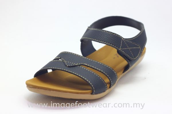 Lady Flat Sandal MURAH EQ2089- BLACK Colour Ladies Slippers & Sandals Mark Down 50% Stock Clerance Mark Down up to 50% Malaysia, Selangor, Kuala Lumpur (KL) Retailer | IMAGE FOOTWEAR COLLECTION SDN BHD