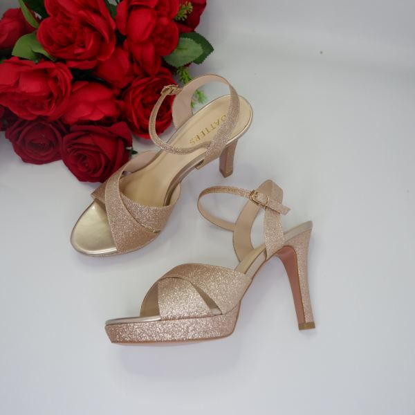 Light Gold Galaxy Cross strap Shoes Sling Back Ready Made Shoes Johor Bahru (JB), Malaysia, Southkey Supplier, Suppliers, Supply, Supplies | Datters Enterprise Sdn Bhd