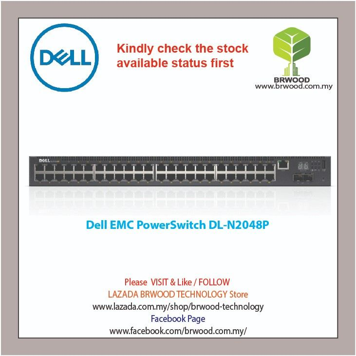 Dell EMC PowerSwitch N2048P 48G PoE+ c/w 2 SFP+ 10Gbps Switches