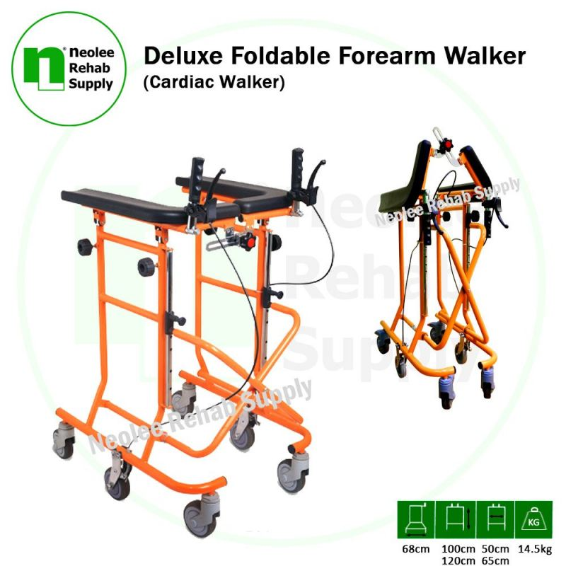 NL9613 Deluxe Foldable Forearm Walker (Cardiac Walker)