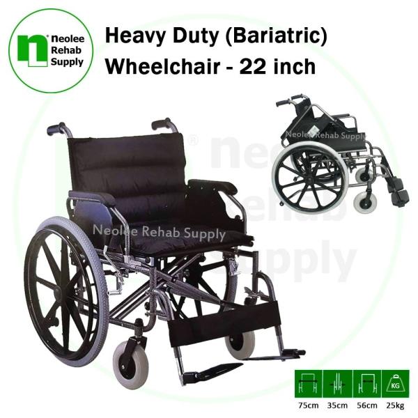 "NL951B-56 Heavy Duty XXL 22"" (Bariatric) Wheelchair Steel Wheelchairs Wheelchairs Kuala Lumpur, KL, Cheras, Selangor, Malaysia. Supplier, Suppliers, Supplies, Supply | Neolee Rehab Supply Sdn Bhd"