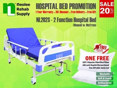NL202S Katil Hospital 2 Fungsi (Manual)
