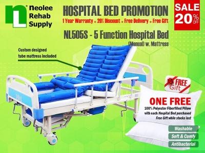 NL505S Katil Hospital 5 Fungsi (Manual)