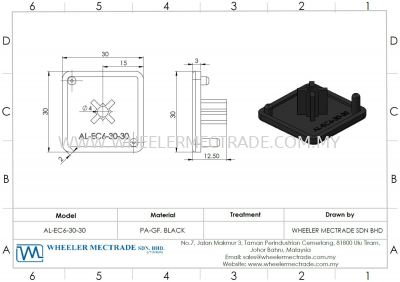 End Cap for Alu 30 x 30