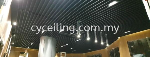 Baffle Ceilling  Aluminium Baffle Ceiling  Selangor, Malaysia, Kuala Lumpur (KL), Puchong Contractor, Supplier, Supply | CY Ceiling & Renovation