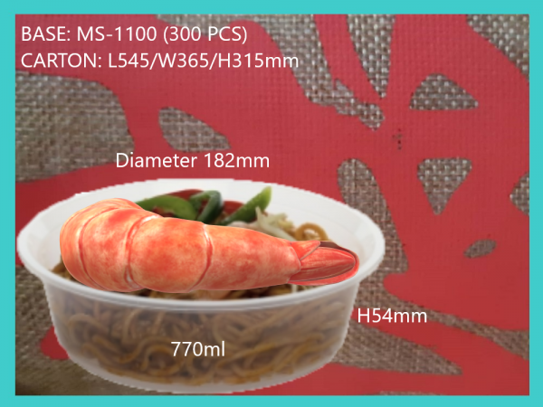 MS-1100 BASE ONLY (300 PCS) ROUND CONTIANER MICROWAVEABLE PLASTIC CONTAINNER Kuala Lumpur (KL), Malaysia, Selangor, Kepong Supplier, Suppliers, Supply, Supplies | RS Peck Trading