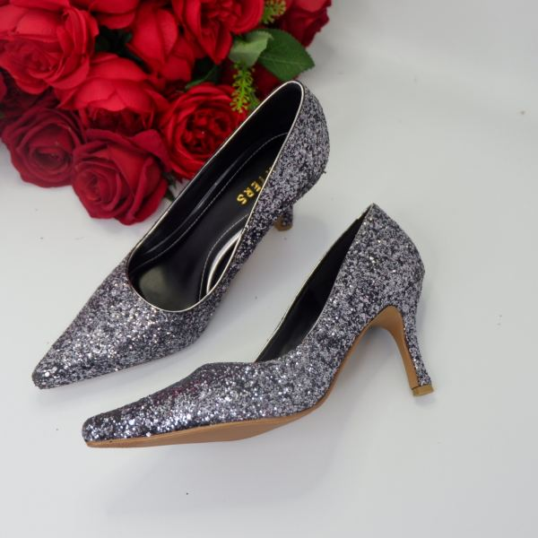Grey Galaxy Fabric  Mule Ready Made Shoes Johor Bahru (JB), Malaysia, Southkey Supplier, Suppliers, Supply, Supplies | Datters Enterprise Sdn Bhd