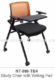 NT-998-TB4 STUDY CHAIR WITH WRITING PAD Foldable Chairs Training Chairs  Selangor, Kuala Lumpur (KL), Puchong, Malaysia Supplier, Suppliers, Supply, Supplies | Elmod Online Sdn Bhd