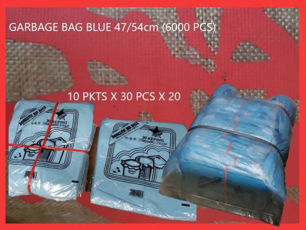 47/54cm BLUE GARBAGE BAG (6000 PCS) GARBAGE BAG PLASTIC BAGS Kuala Lumpur (KL), Malaysia, Selangor, Kepong Supplier, Suppliers, Supply, Supplies | RS Peck Trading
