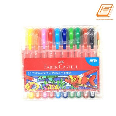 Faber-Castell 11 Water Colour Gel Pastels + Brush
