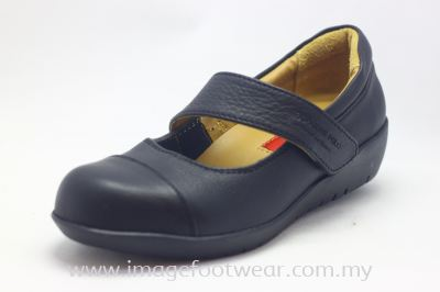 EXPRESS POLO Full Leather Ladies Shoe- LL-90466- BLACK Colour