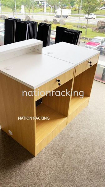 Wooden Check Out Counter Checkout Counter Kajang, Selangor, Kuala Lumpur (KL), Malaysia. Supplier, Supplies, Provider | Nation Racking Systems (M) Sdn Bhd