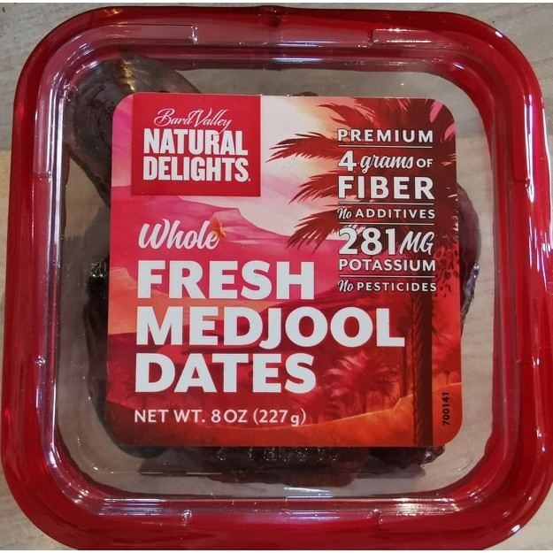 Whole Fresh Medjool Dates - Natural Delights® (227gm)