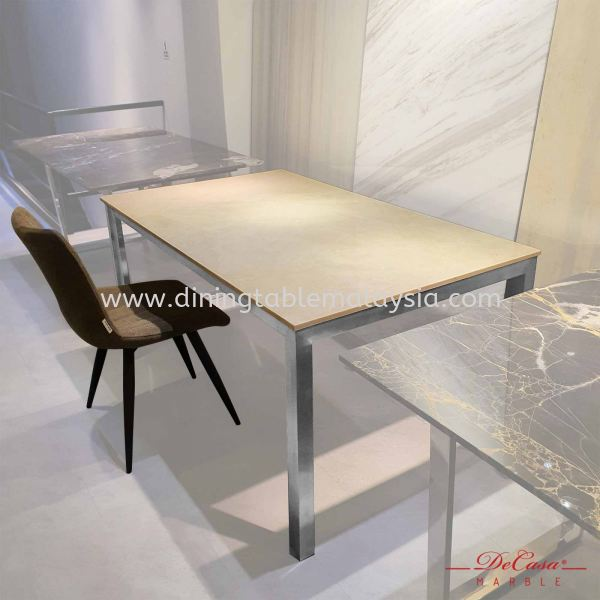 Louis Beige | Turkey | 4 seaters | Table only | RM 1,999 Rectangular Marble Table Promotion / Clearance Item    供应商,批发商 | DeCasa Marble Sdn Bhd
