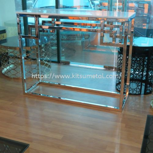 Silver Chrome & Marble Top