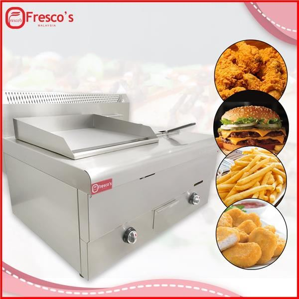 Gas Griddle with Deep Fryer 2 in 1 Machine Commercial Stainless Steel Deep Fryer Kuala Lumpur, KL, Malaysia Supply, Supplier, Suppliers | Fresco Cocoa Supply PLT