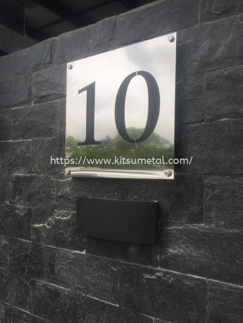 Stainless Steel Mirror Finishing Black Font (Double Layer)